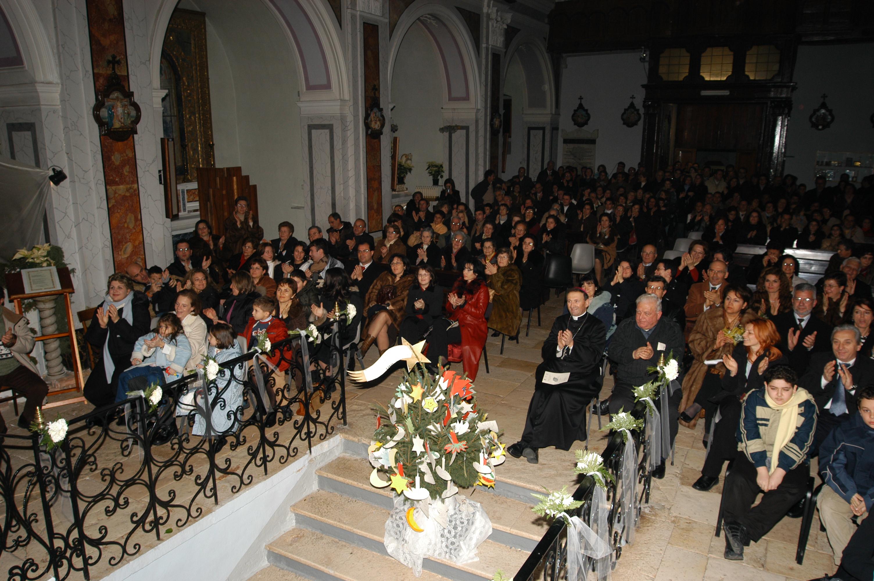 Uno scorci della Chiesa durante il concerto