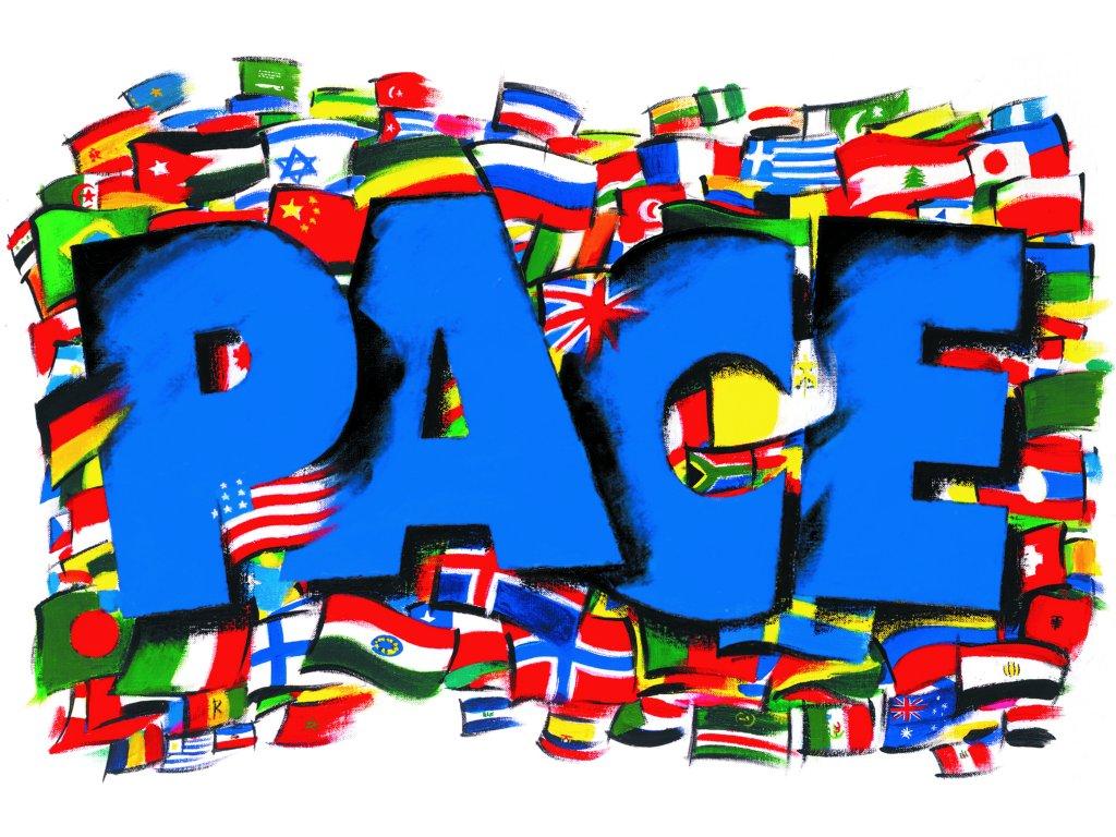 La bandiera della pace del SERMIG